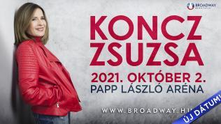 KONCZ ZSUZSA KONCERT 2021 ÚJ IDŐPONT